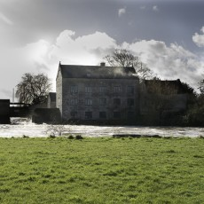 Thorney Mill, the river flowing past